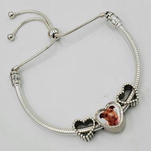 Pandora sliding bracelet with custom charm